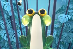 Frosch 3D Animation